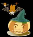 カワイイかぼちゃ&コウモリbyハロウィン