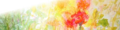 水彩風 やわらかいイメージ